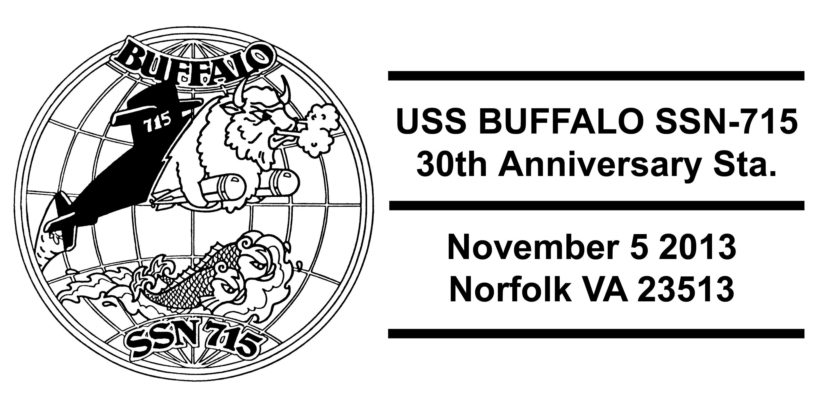 Sonderpoststempel USS BUFFALO SSN-715  30 Jahre im DienstDesign: Wolfgang Hechler