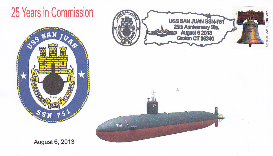 Beleg USS SAN JUAN SSN-751  25 Jahre im Dienst