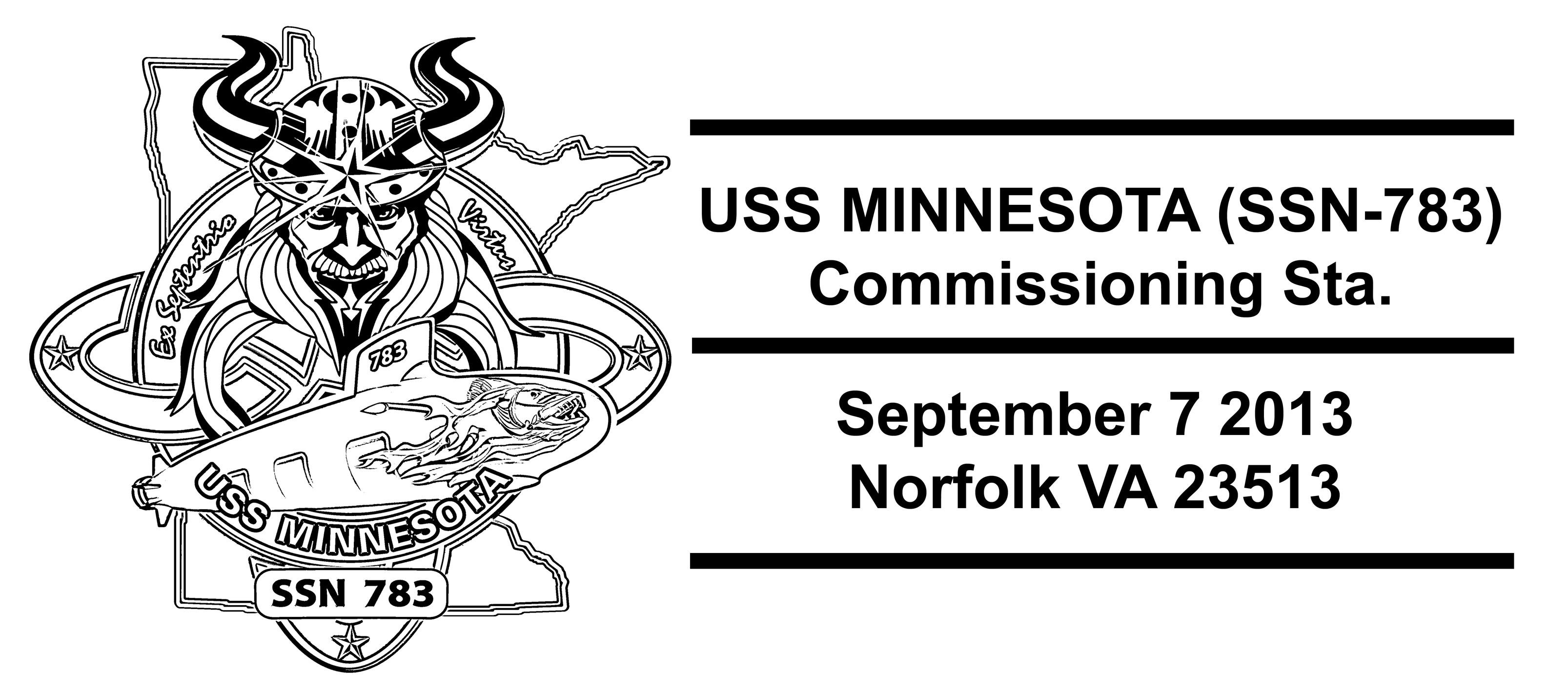 Sonderpoststempel USS MINNESOTA SSN-783 CommissioningGrafik: Wolfgang Hechler