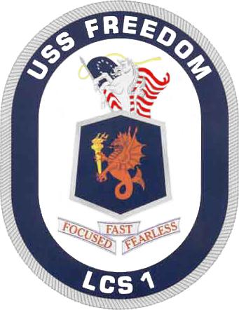 USS FREEDOM LCS-1 CrestGrafik: U.S. Navy