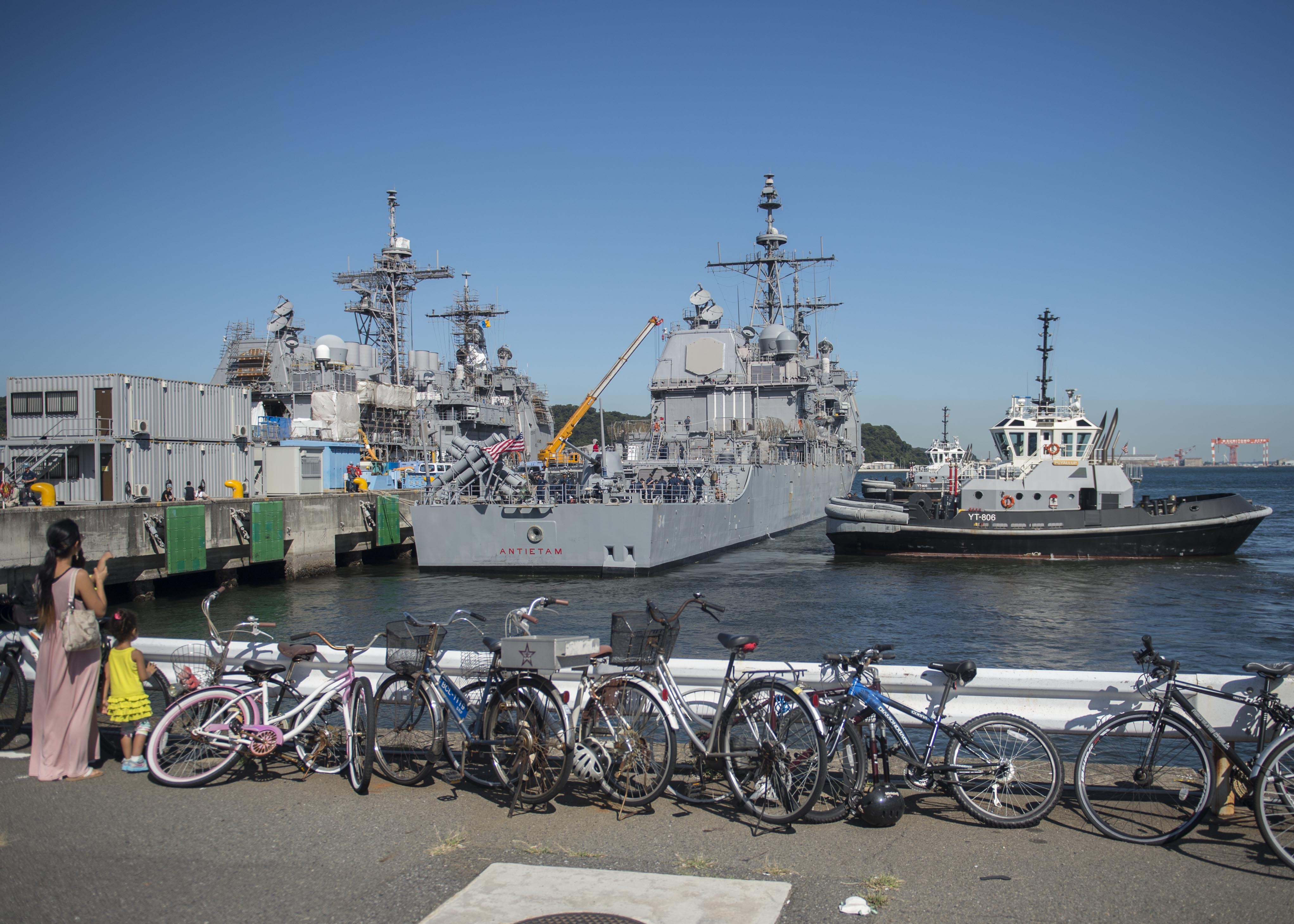 USS ANTIETAM CG-54 Auslaufen Yokosuka 17.09.2013