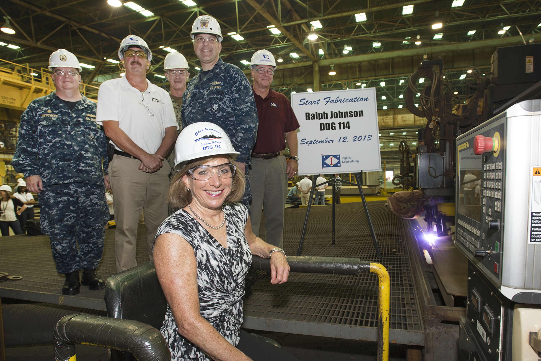 Baubeginn USS RALPH JOHNSON DDG-114 bei Ingalls ShipbuildingBild: Huntington Ingalls Industries
