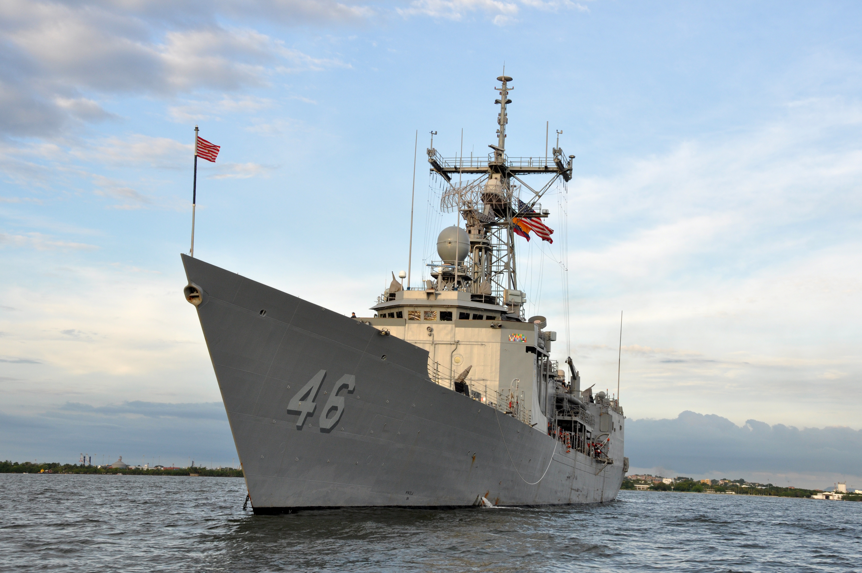 USS RENTZ FFG-46 am 07.09.2013 in Cartagena, KolumbienBild: U.S. Navy