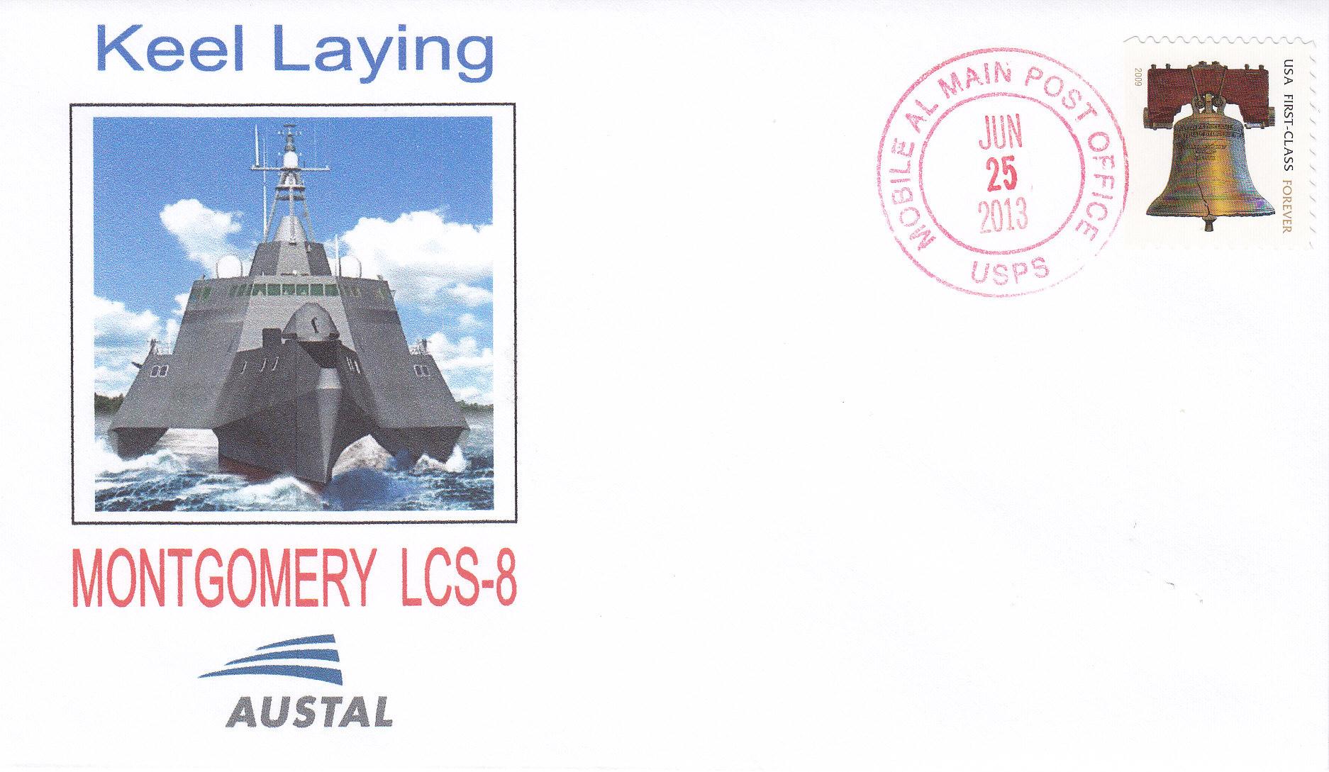 Beleg USS MONTGOMERY LCS-8 Kiellegung