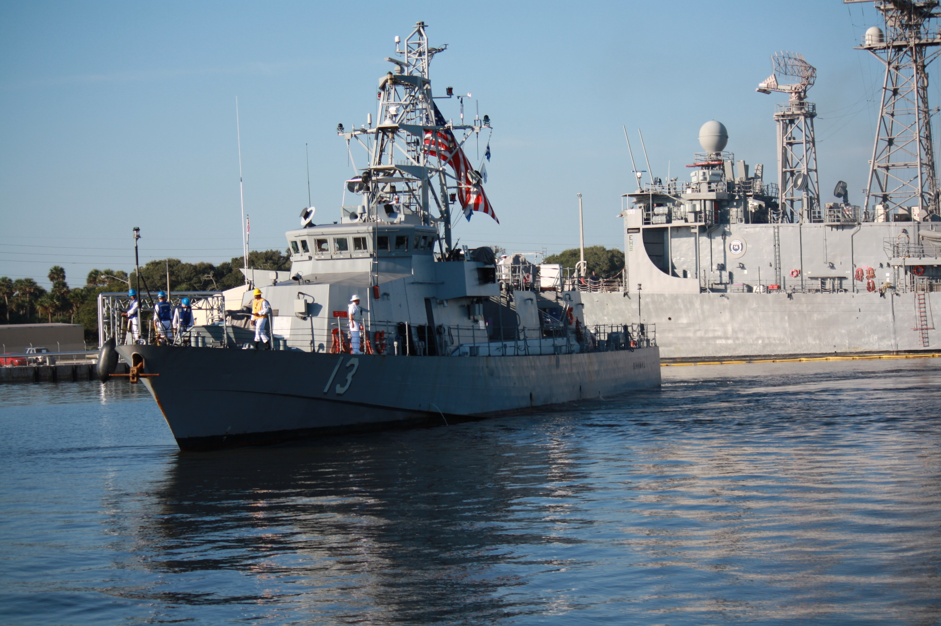 USS SHAMAL PC-13 Ankunft Mayport 21.09.2013Bild: U.S. Navy