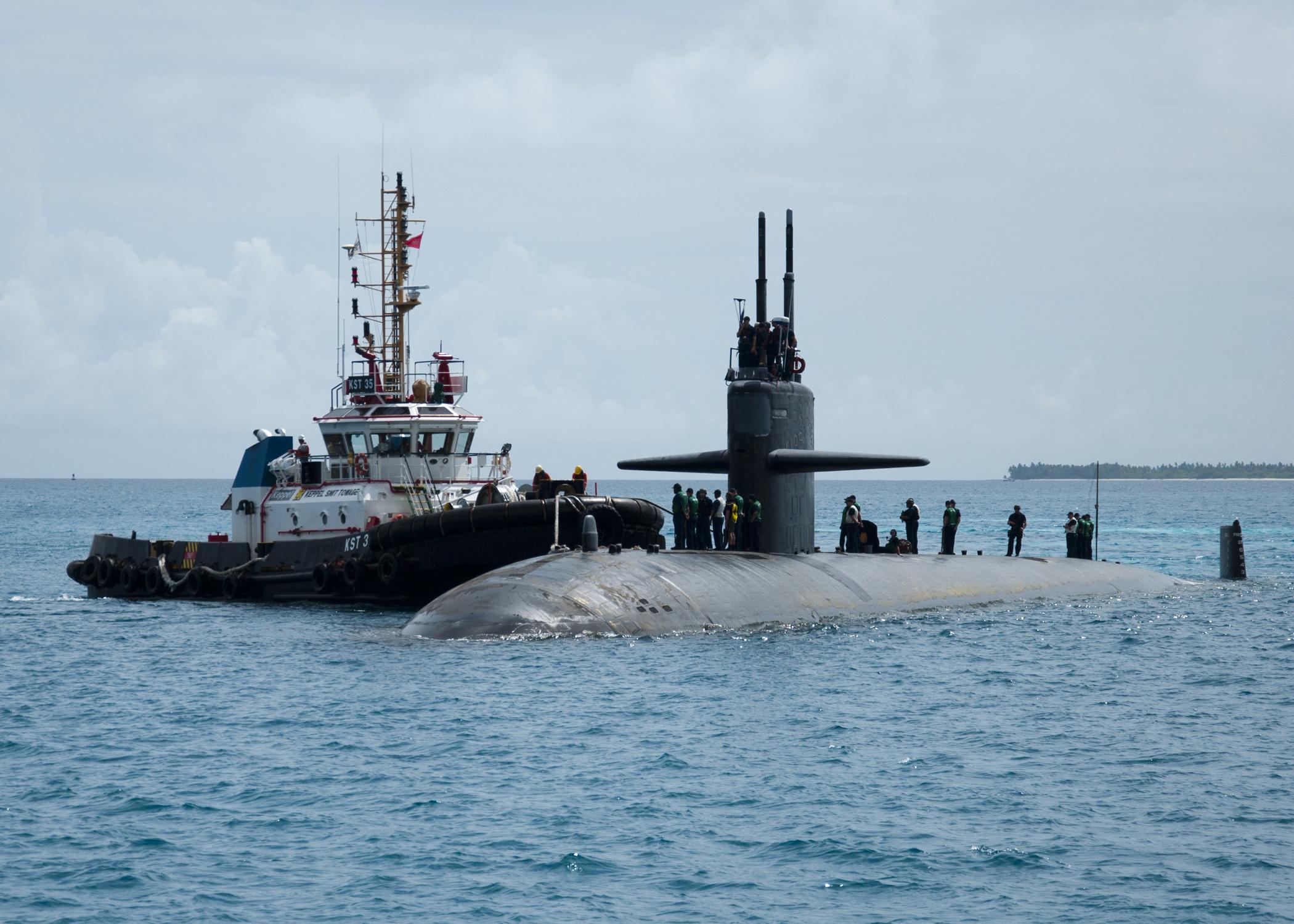 USS HELENA SSN-725 Diego Garcia 04.09.2013