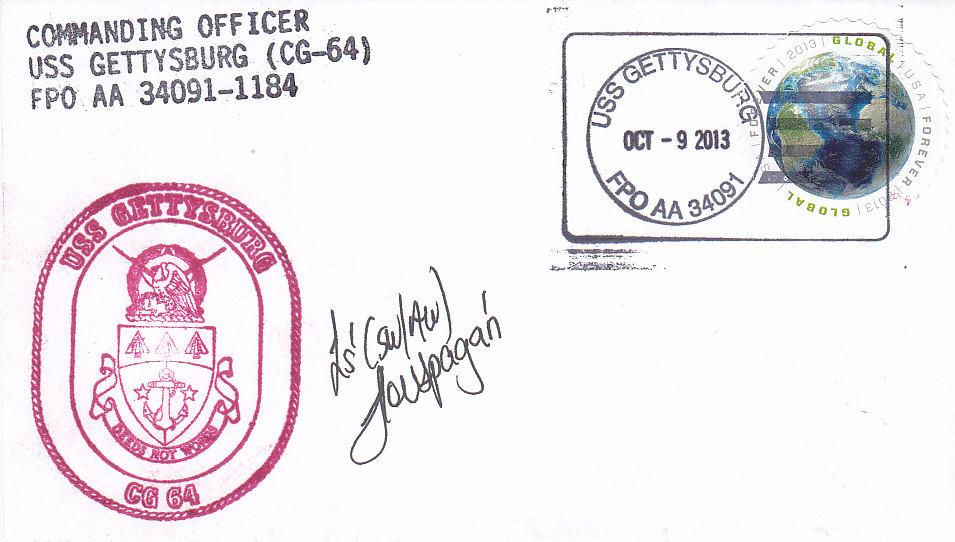 Beleg USS GETTYBURG CG-64 vom 09.10.2013