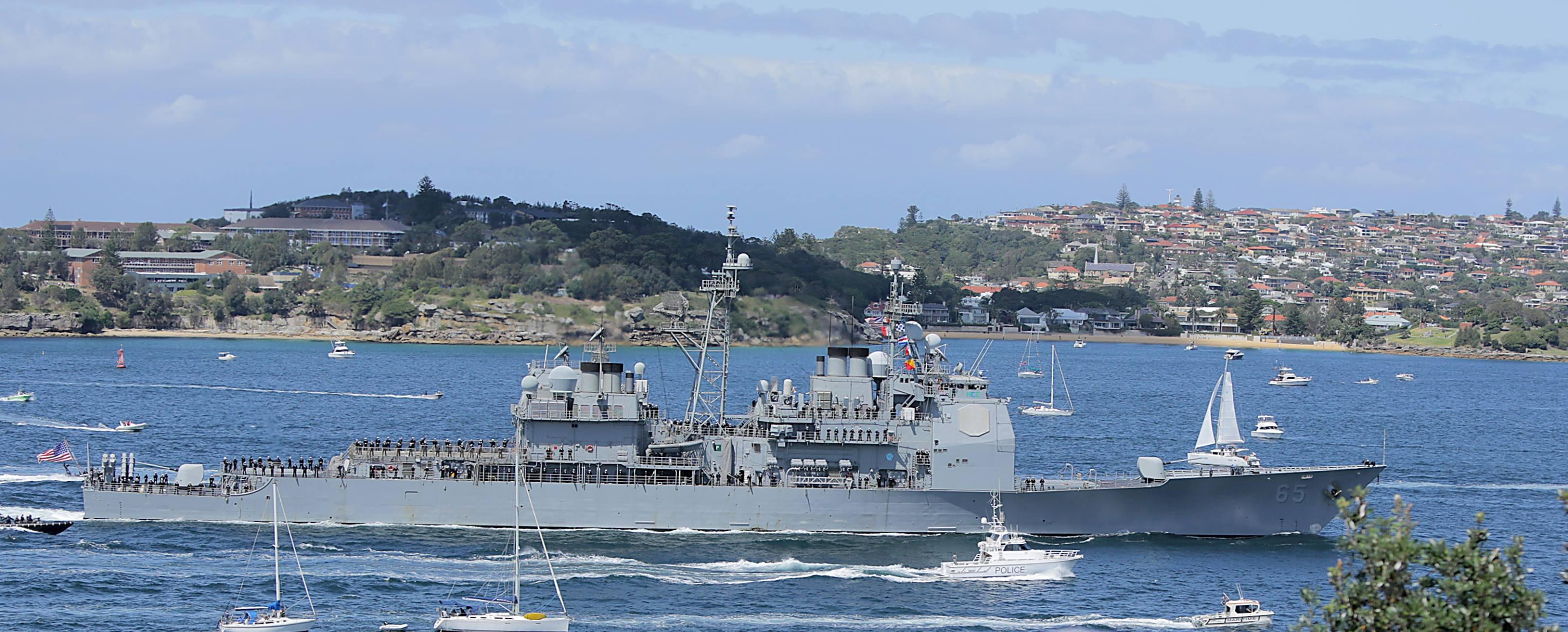 USS CHOSIN CG-65 in Sydney am 04.10.2013Bild: Ian Johnson von der USS CHOSIN Facebook Seite