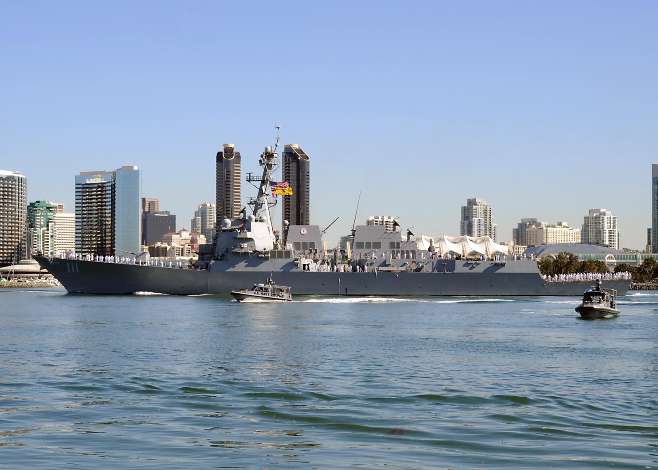 USS SPRUANCE DDG-111 Auslaufen San Diego 16.10.2013Bild: U.S. Navy