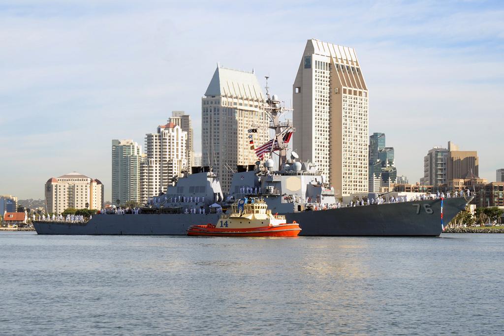 USS HIGGINS DDG-76 Einlaufen San Diego 07.10.2013Bild: U.S. Navy
