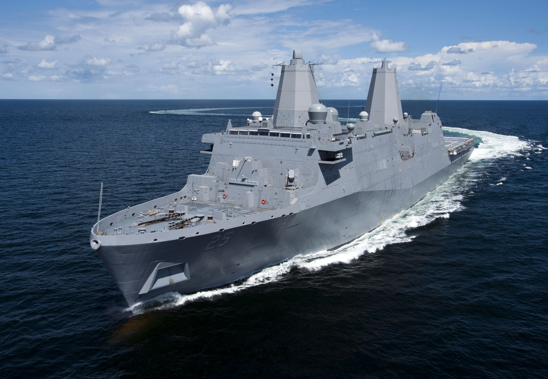 USS SOMERSET LPD-25 bei der See-ErprobungBild Huntington Ingalls Industries