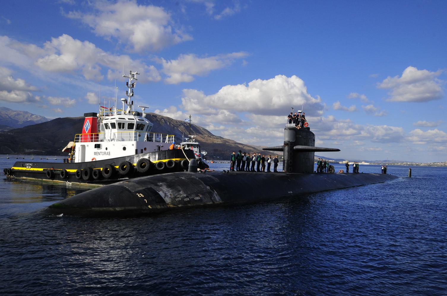 USS HELENA SSN-725 am 23.09.2013 Souda Bay, KretaBild: U.S. Navy