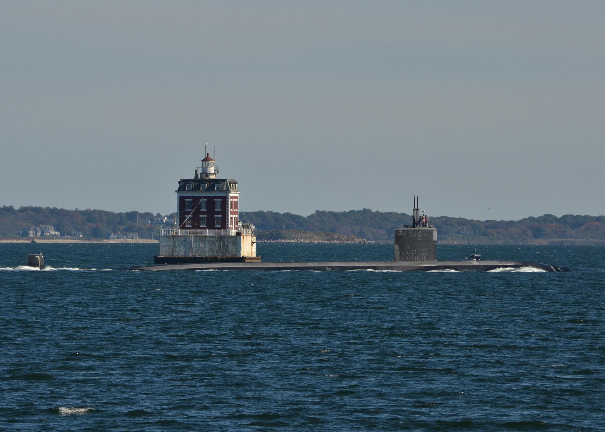 USS SAN JUAN SSN-751 Auslaufen Groton 15.10.2013Bild: U.S. Navy