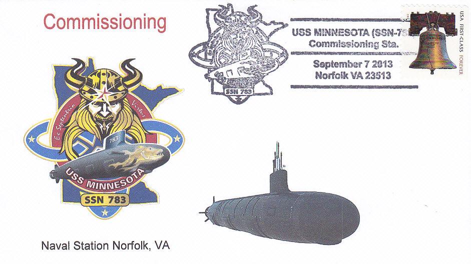 Beleg USS MINNESOTA SSN-783 Commissioning