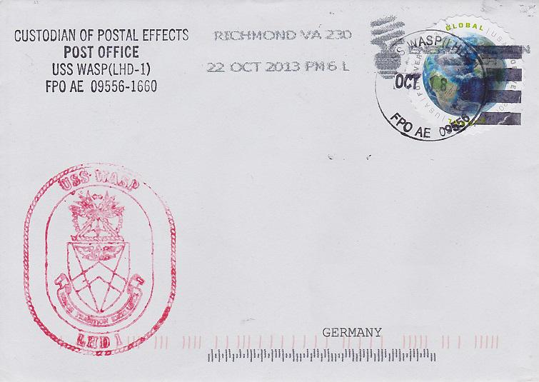 Beleg USS WASP LHD-1 vom 18.10.2013von Daniel Gornig