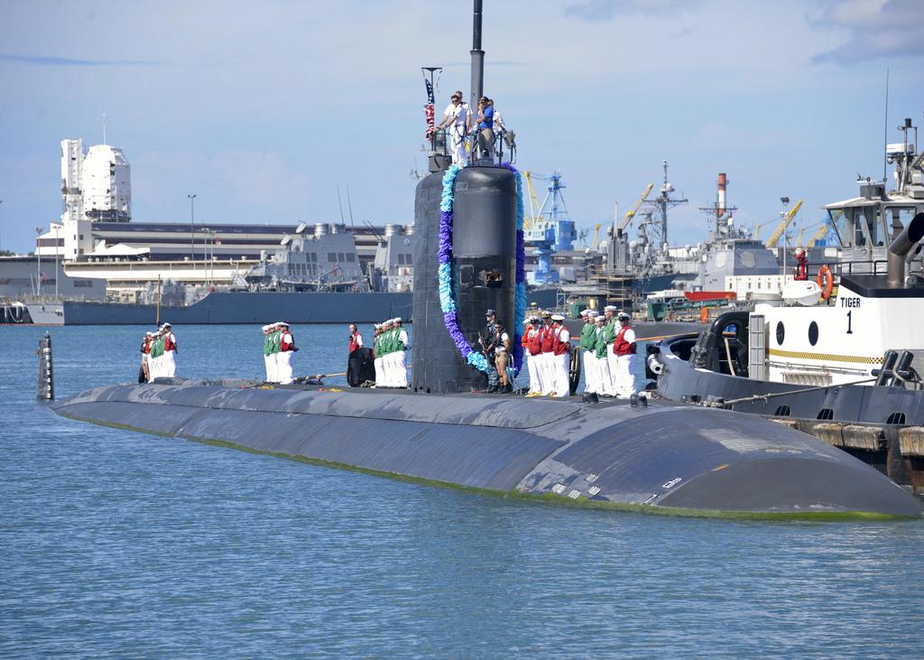 USS CHARLOTTE SSN-766 Einlaufen Pearl Harbor 02.10.2013Bild: U.S. Nay
