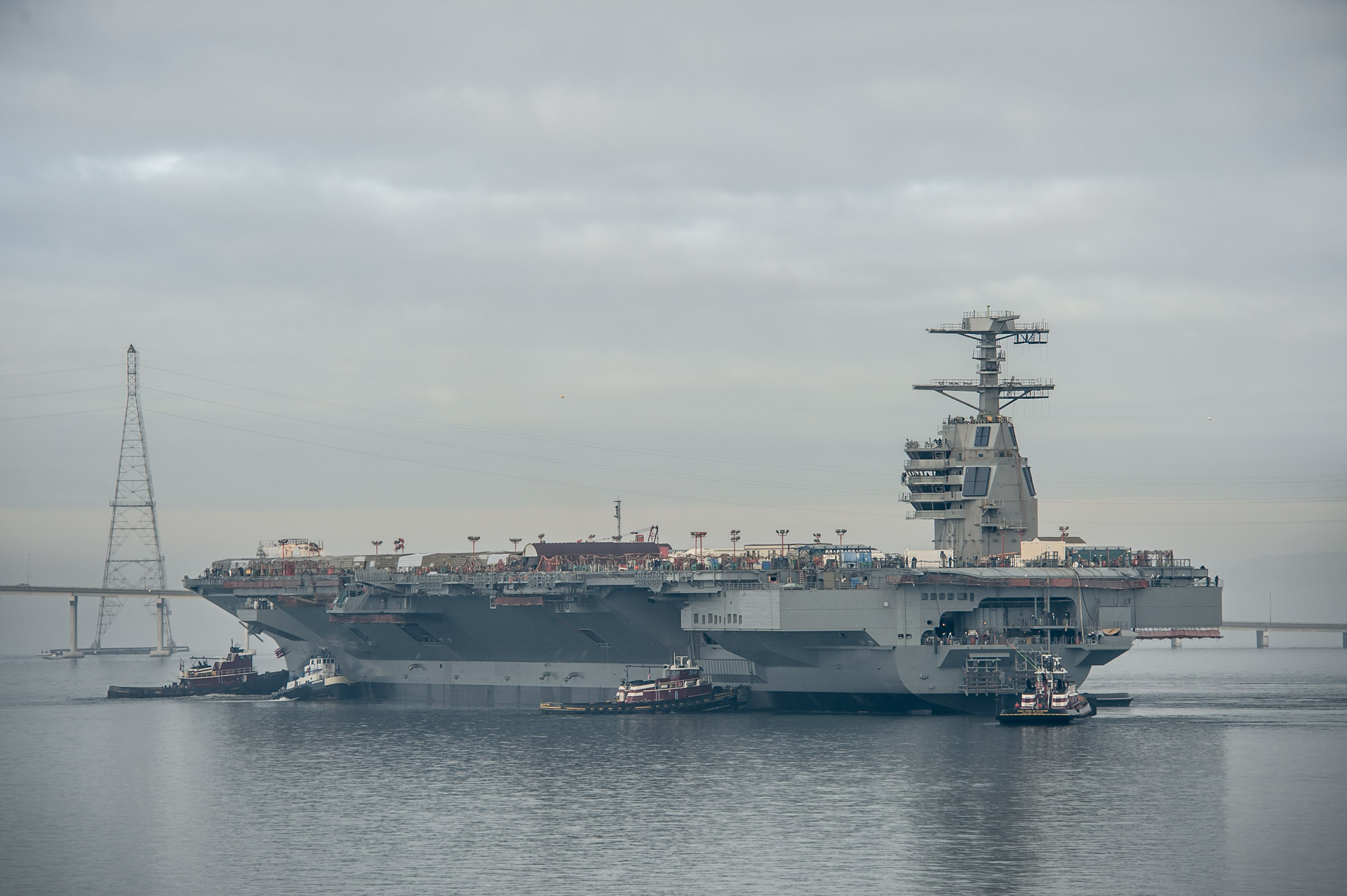 USS GERALD R. FORD CVN-78 am 17.11.2013Bild: Huntington Ingalls Industries