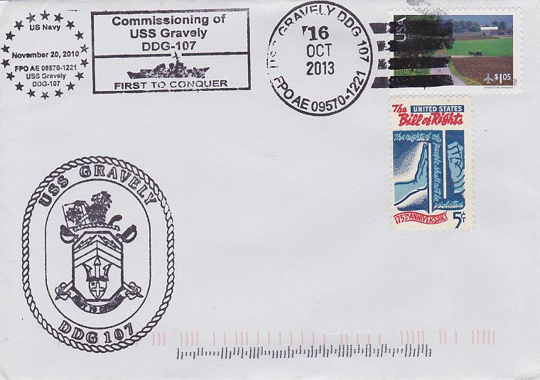 Beleg USS GRAVELY DDG-107von Daniel Gornig