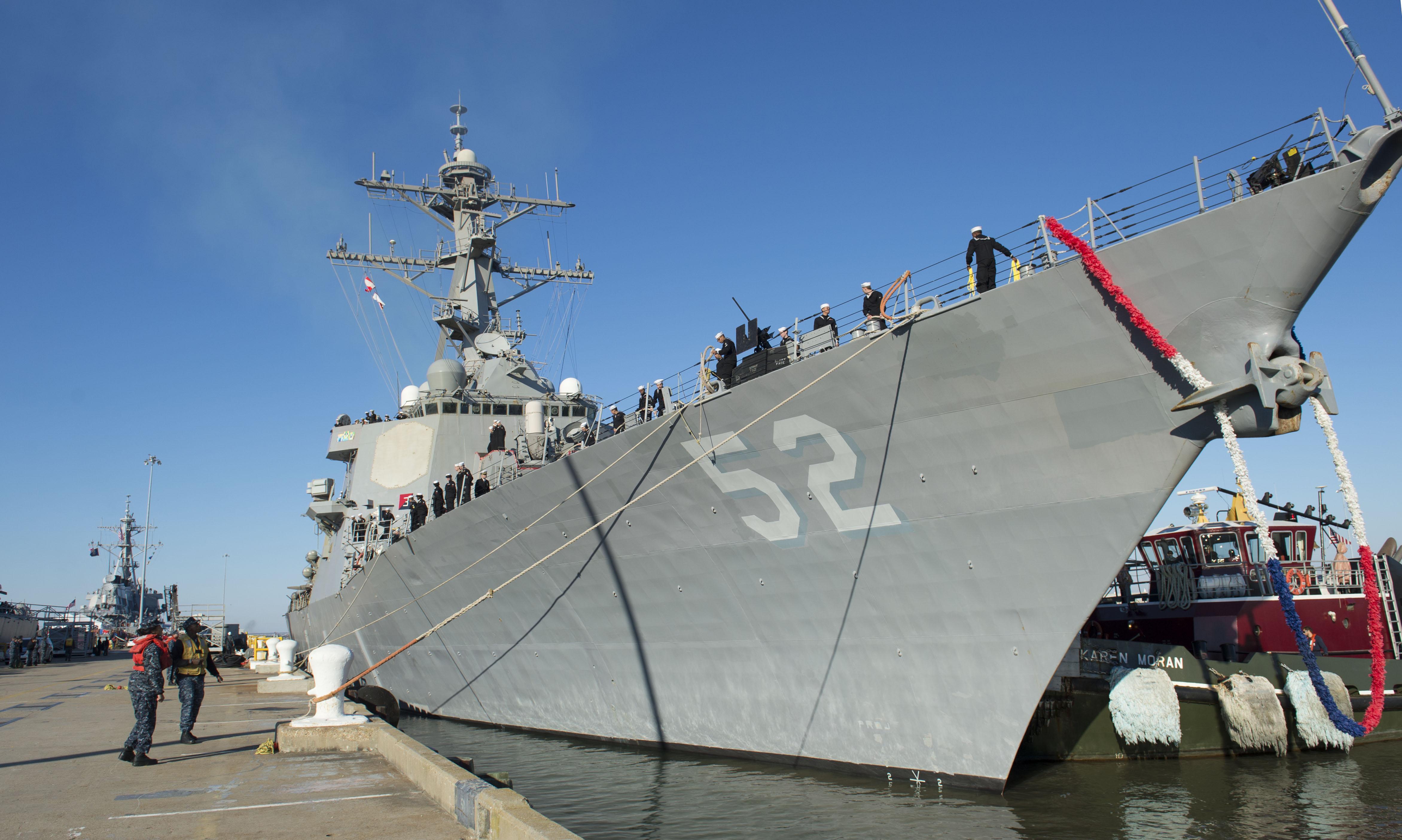 USS BARRY DDG-52 Ankunft Norfolk 08.11.2013Bild: U.S. Navy