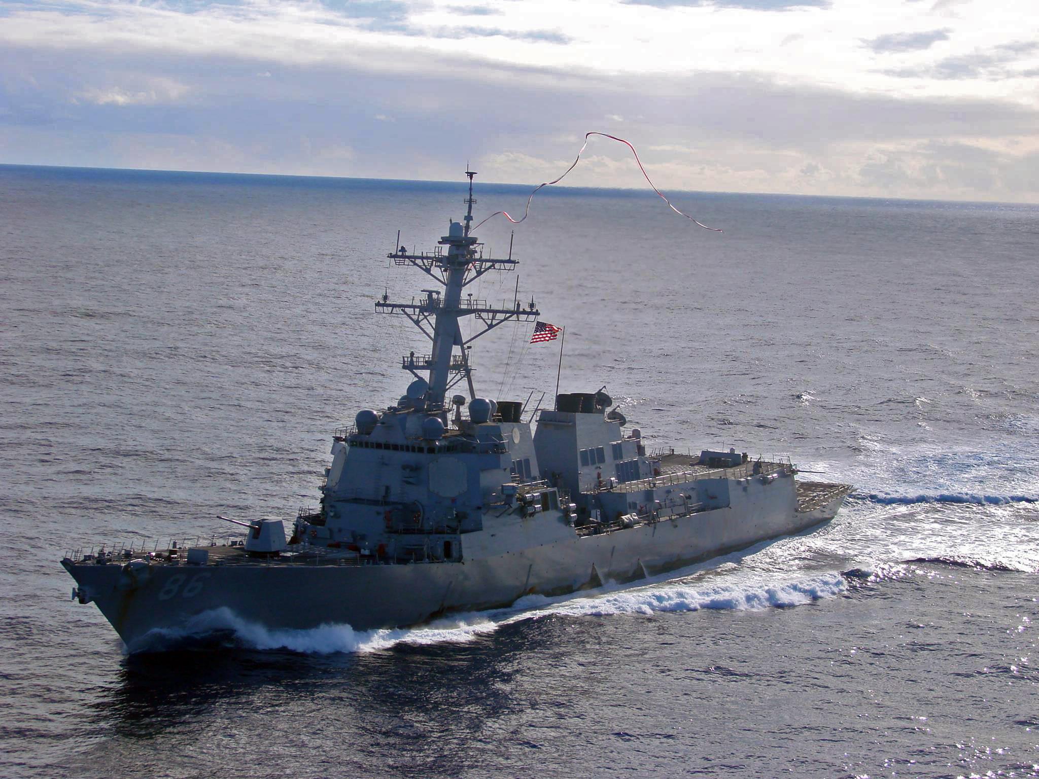 USS SHOUP DDG-86 Einlaufen Everett 18.11.2013Bild: U.S. Navy