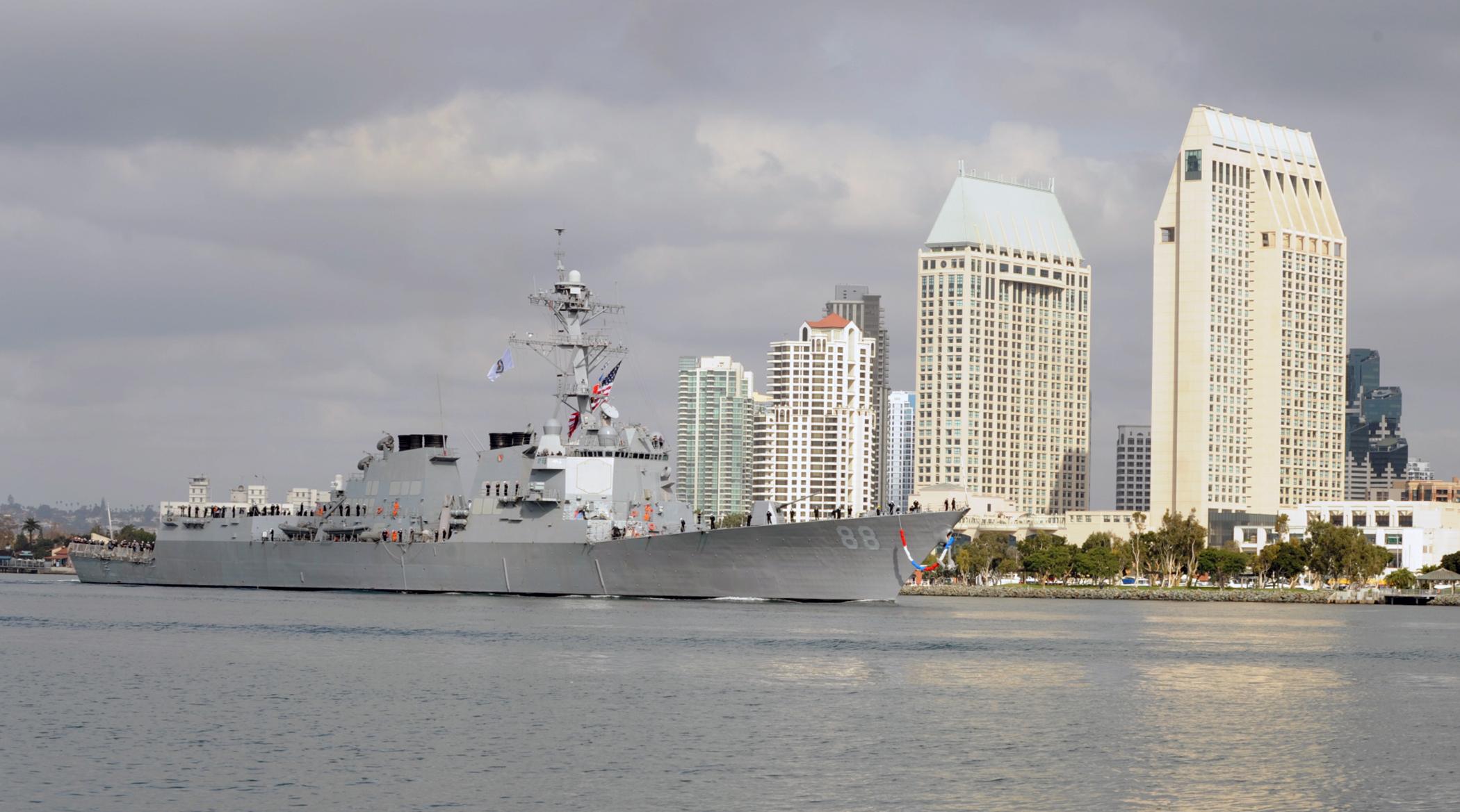 USS PREBLE DDG-88 Einlaufen San Diego 18.11.2013Bild: U.S. Navy
