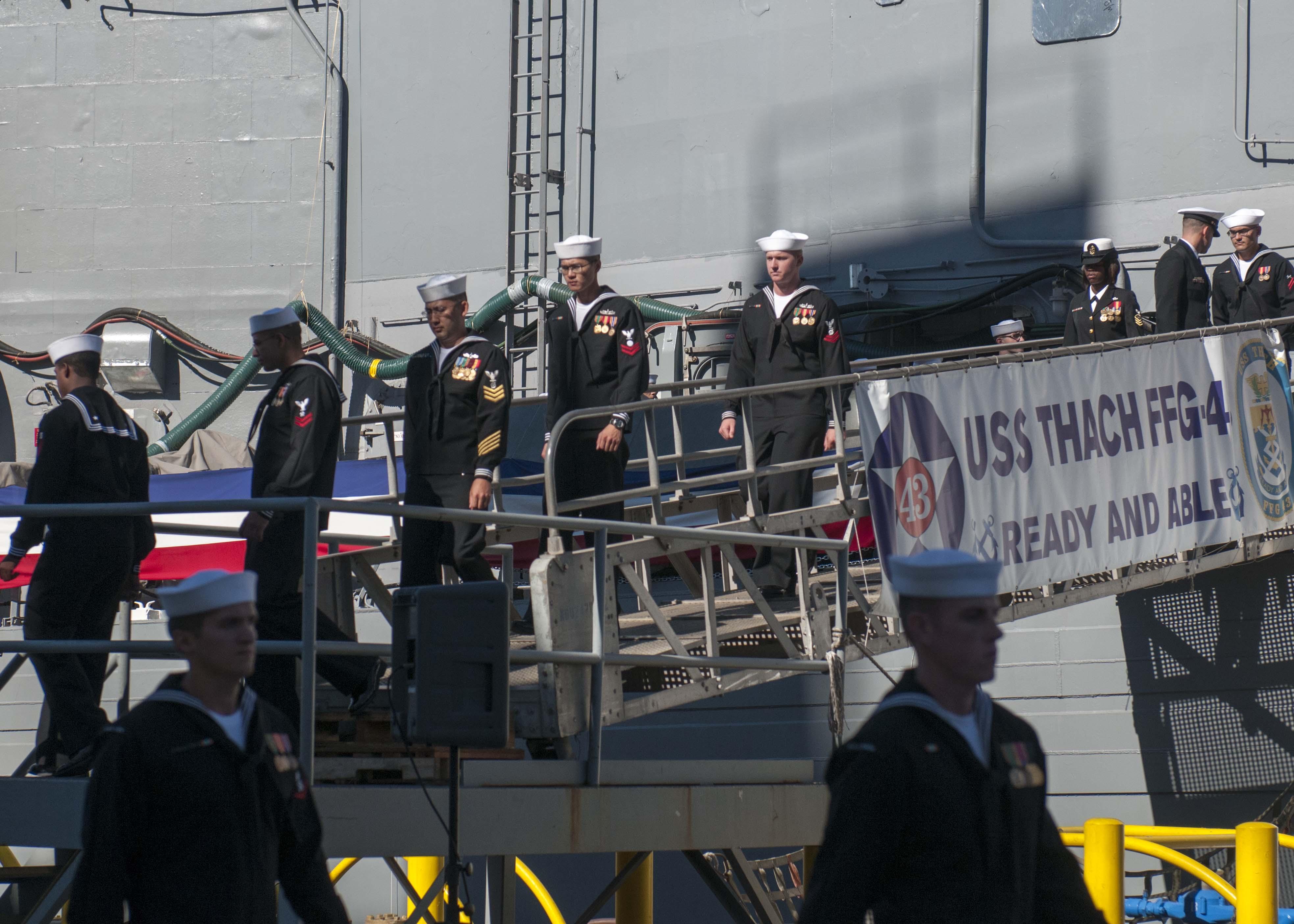 USS THACH FFG-43 Decommissioning CeremonyBild: U.S. Navy