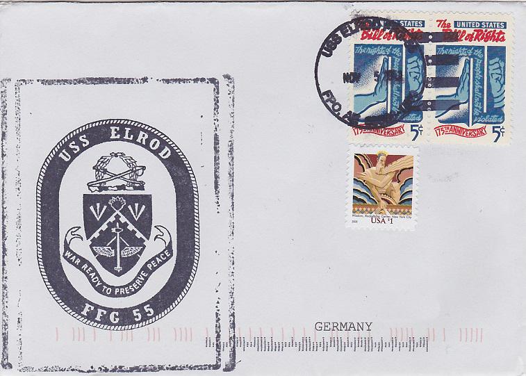 Beleg USS ELROD FFG-55 vom 05.11.2013von Daniel Gornig