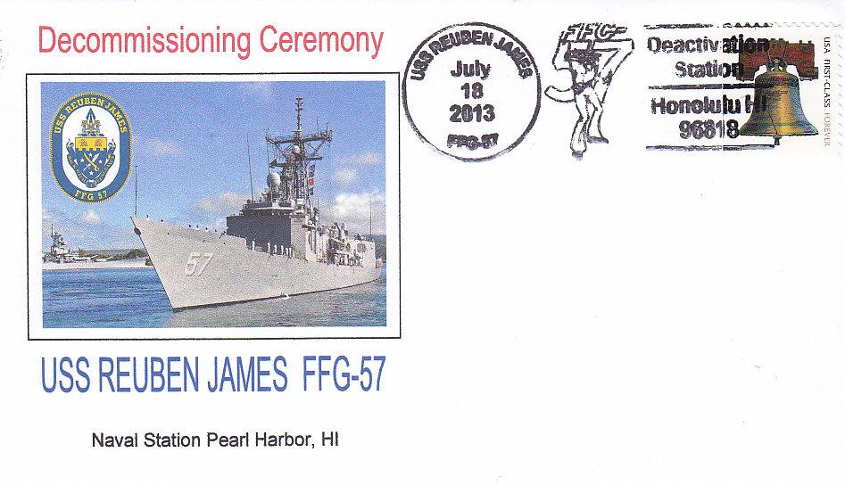 Beleg USS REUBEN JAMES FFG-57 Außerdienststellung