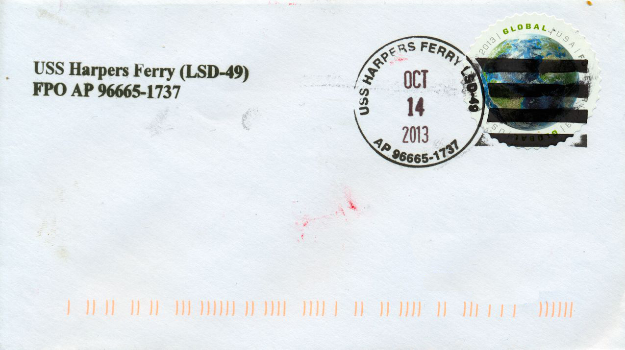 Beleg USS HARPERS FERRY LSD-49von Karl Friedrich Weyland