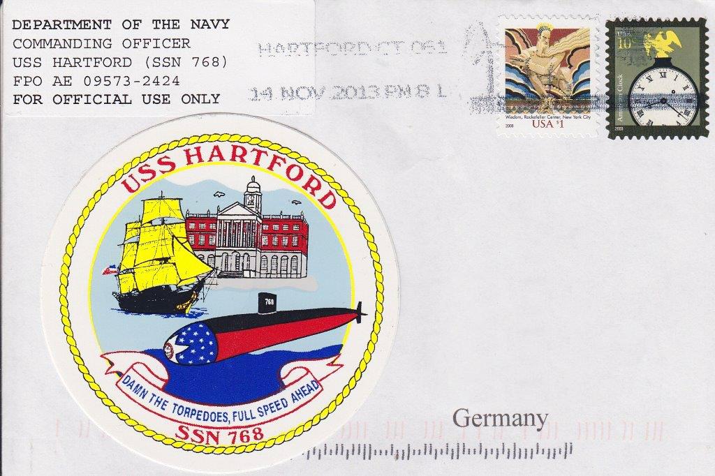 Beleg USS HARTFORD SSN-768von Heinz Greger