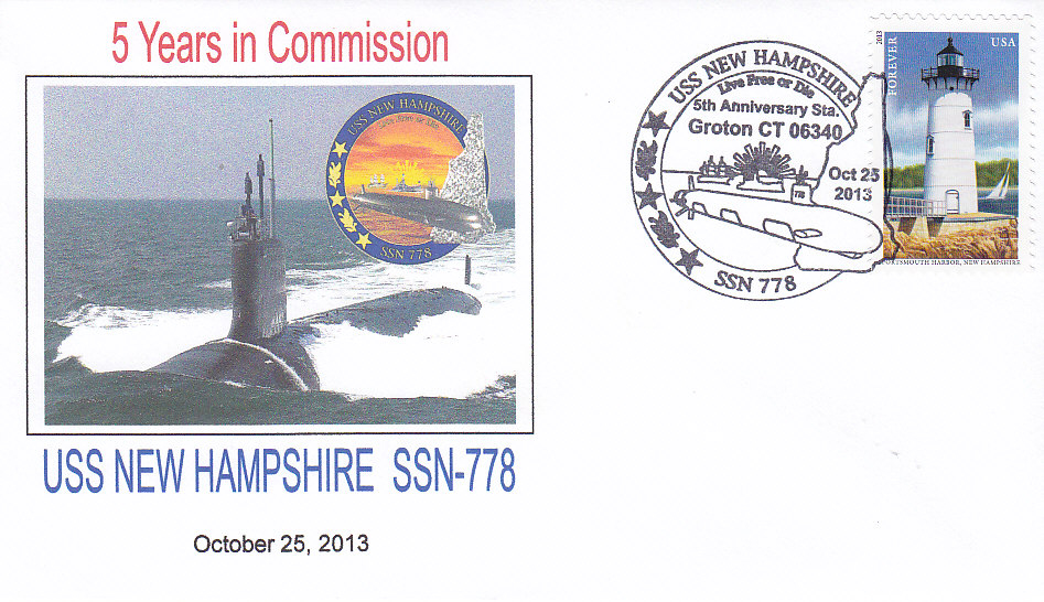 Beleg USS NEW HAMPSHIRE SSN-778 5 Jahre im Dienst