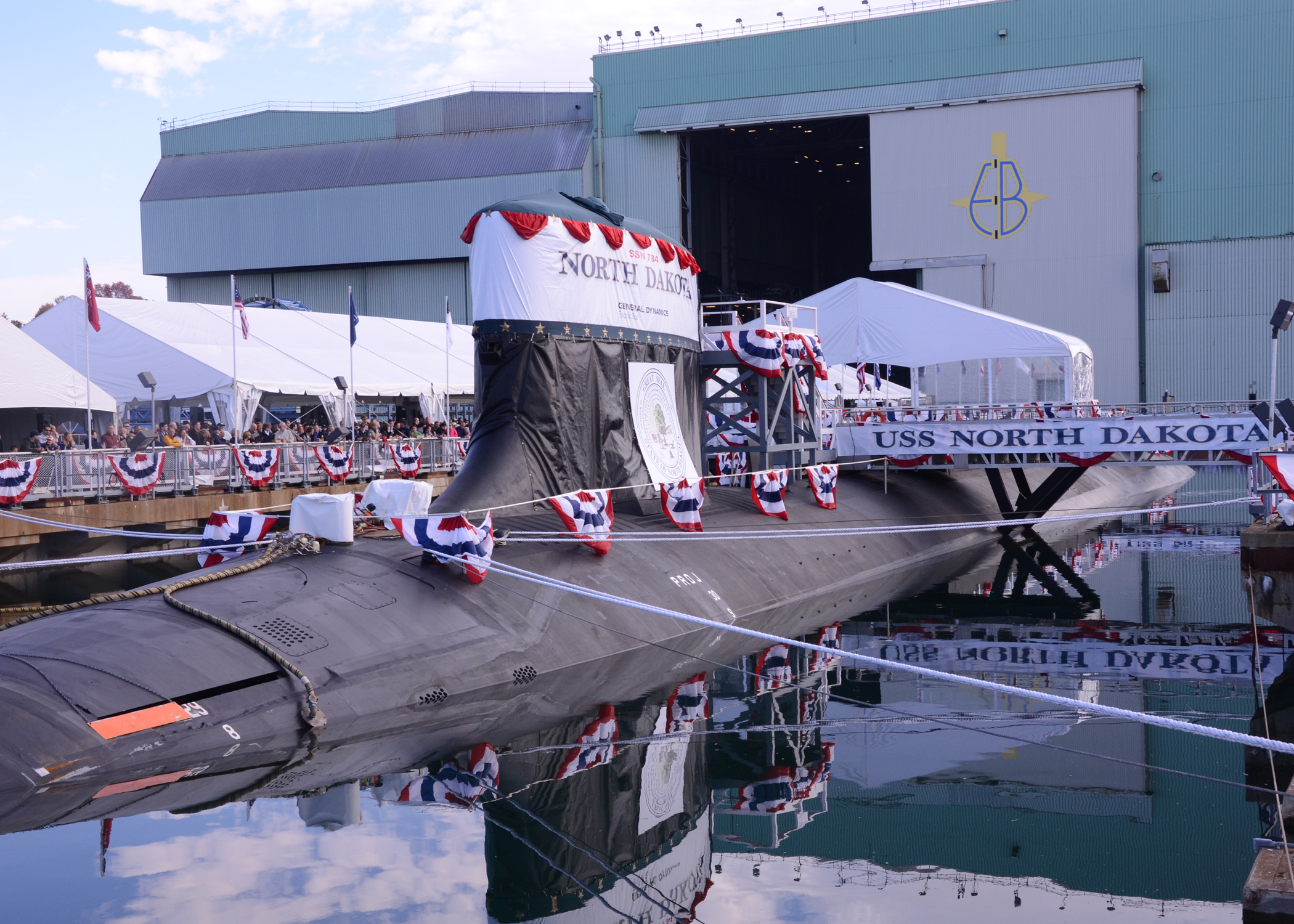 USS NORTH DAKOTA SSN-784 ChristeningBild: U.S. Navy