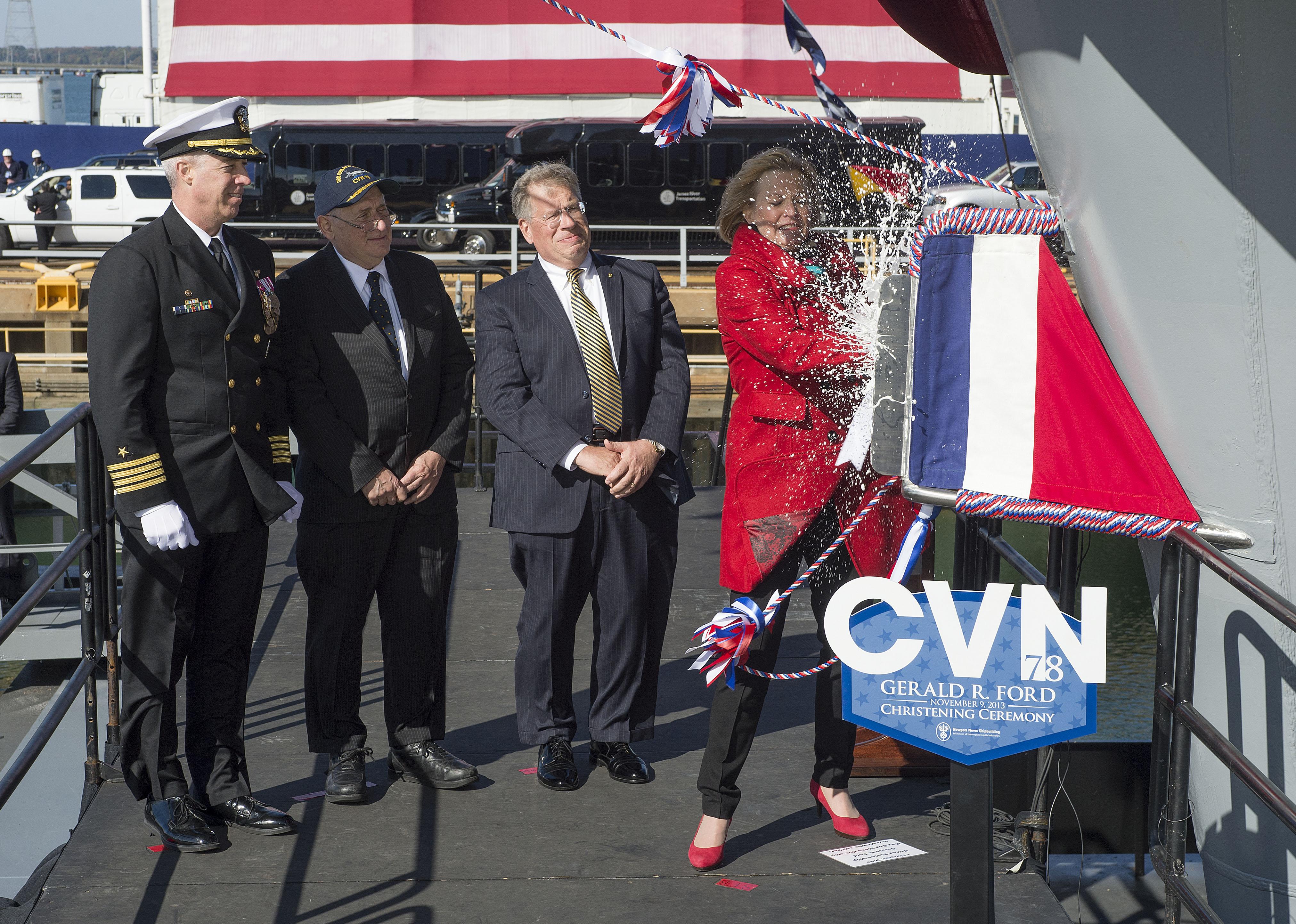USS GERALD R. FORD CVN-78 Taufe am 09.11.2013Bild: Newport News Shipbuilding