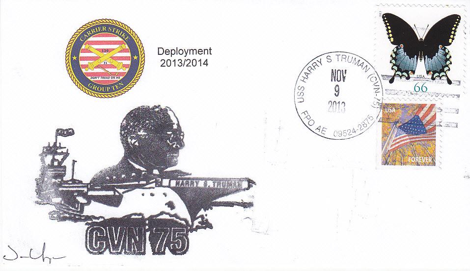Beleg USS HARRY S. TRUMAN CVN-75 vom 09.11.2013