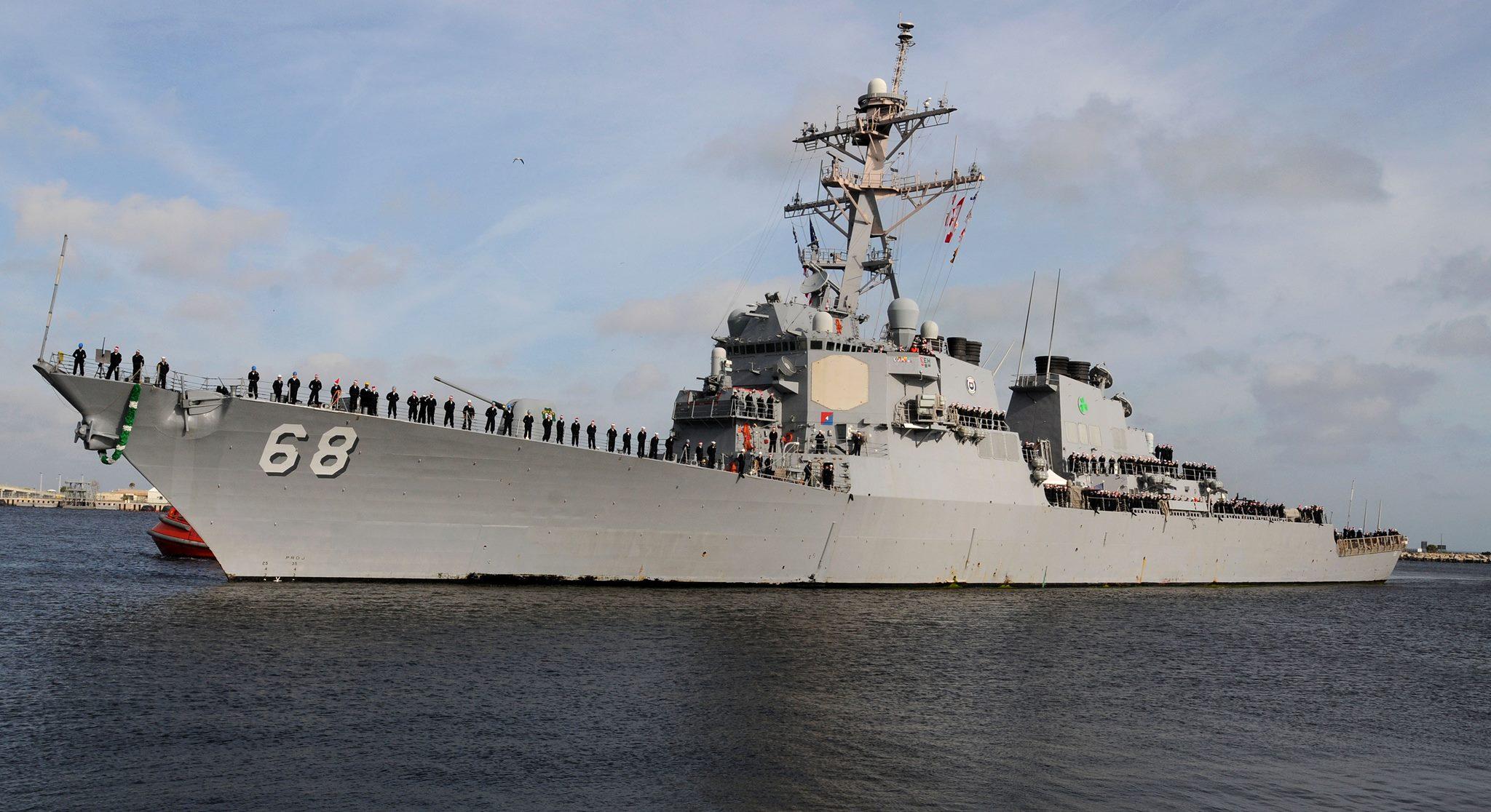 USS THE SULLIVANS DDG-68 Einlaufen Mayport 22.12.2013 Bild: U.S. Navy