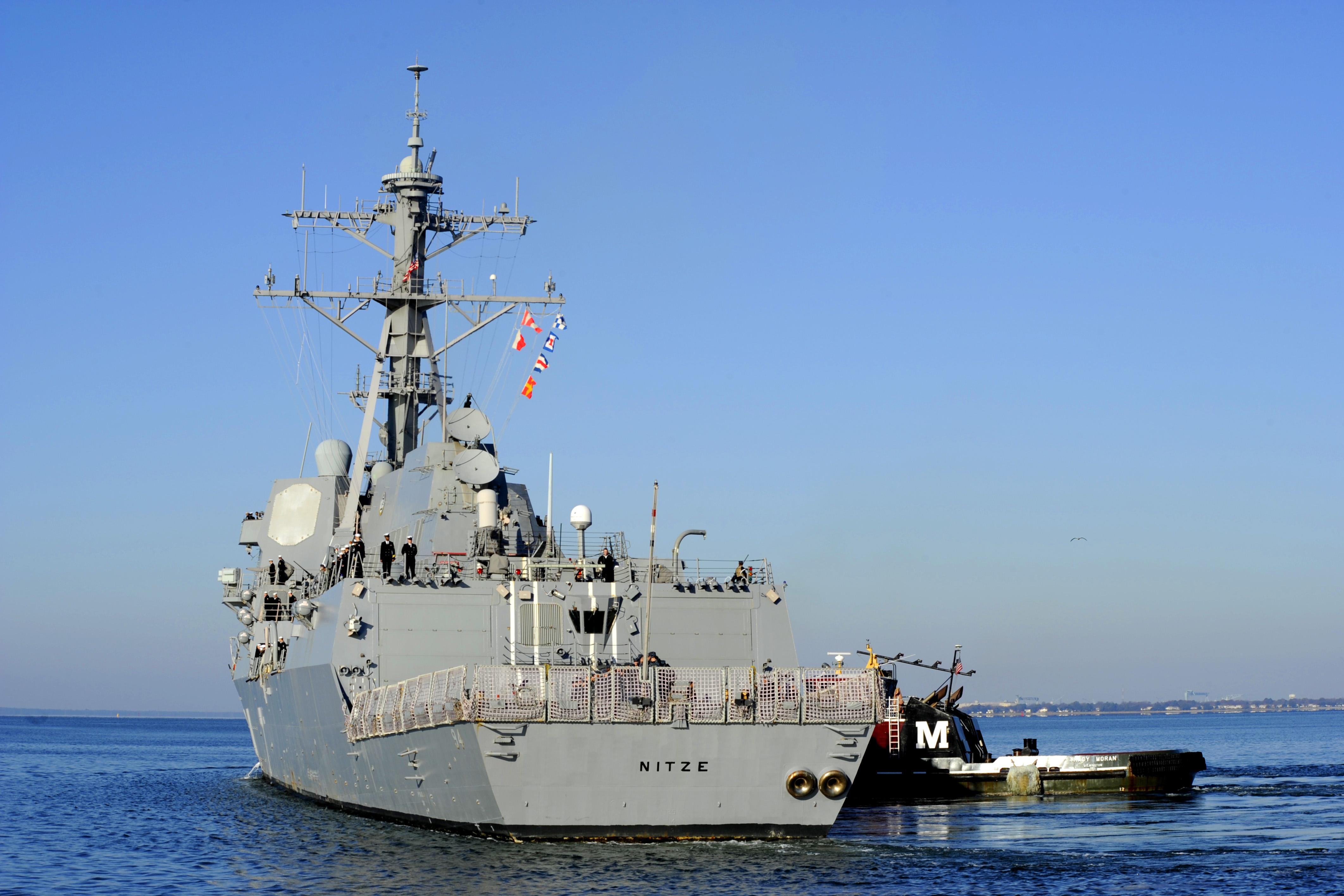 USS NITZE DDG-94 Auslaufen Norfolk 29.11.2013Bild: U.S. Navy