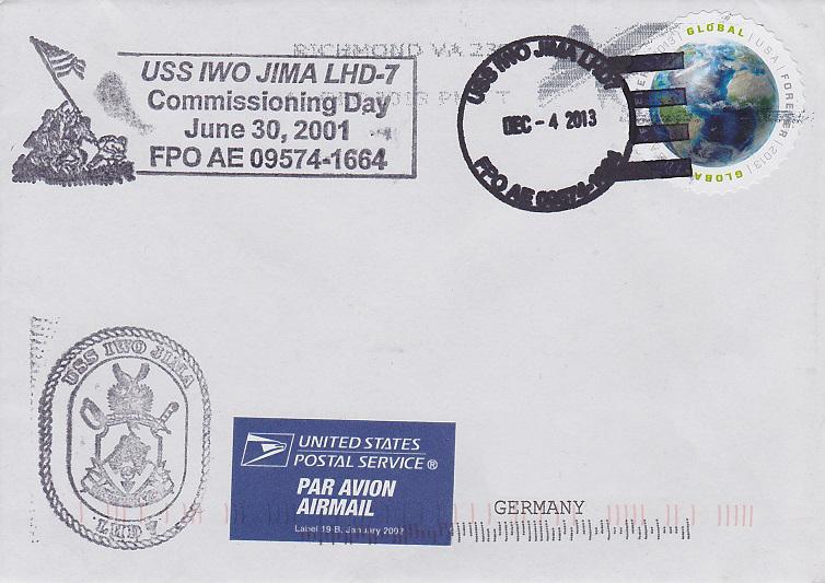 Beleg USS IWO JIMA LHD-7 vom 04.12.2013 von Daniel Gornig