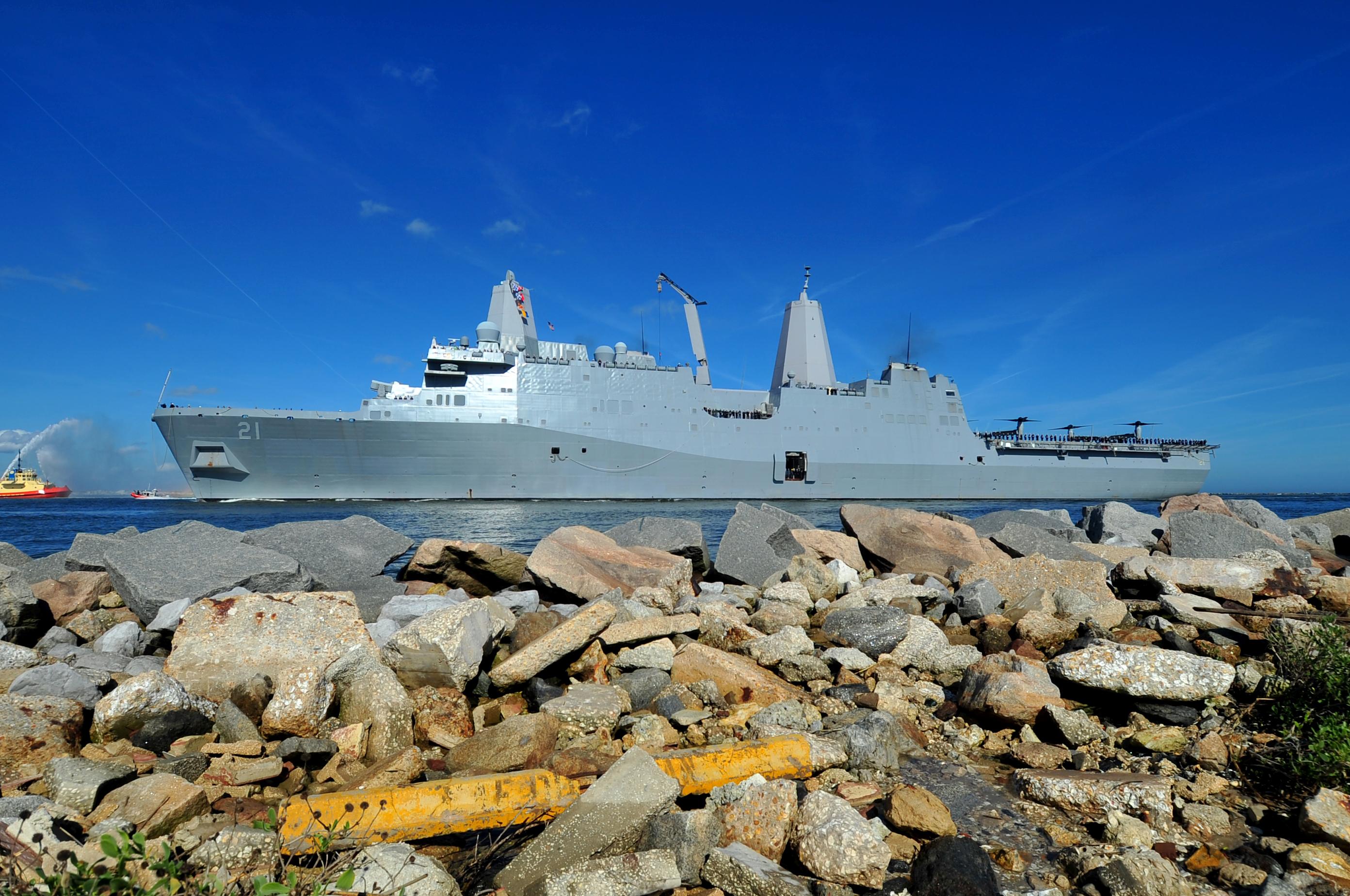 USS NEW YORK LPD-21 Einlaufen Mayport 06.12.2013Bild: U.S. Navy