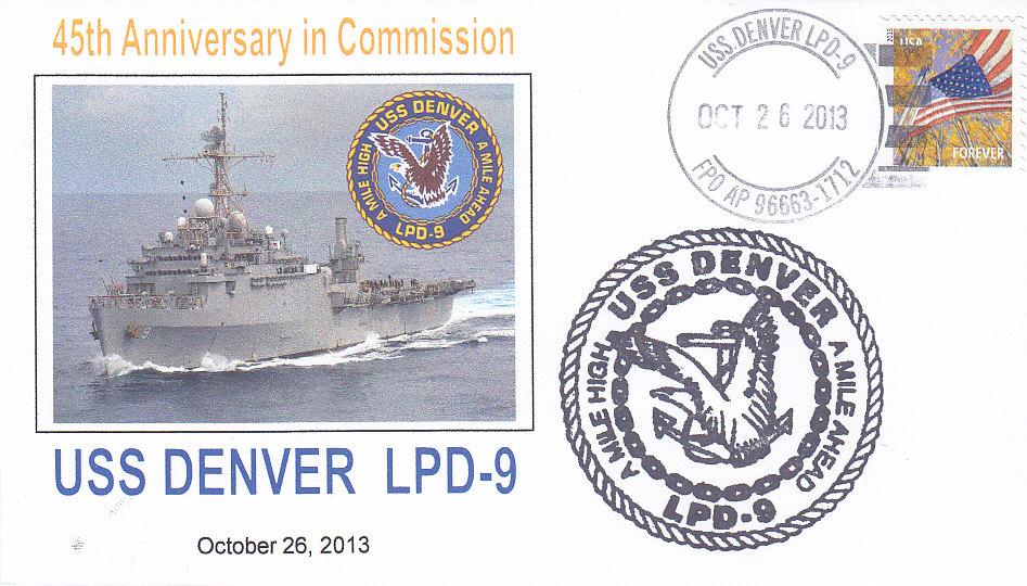 Belefg USS DENVER LPD-9 45 Jahre im Dienst