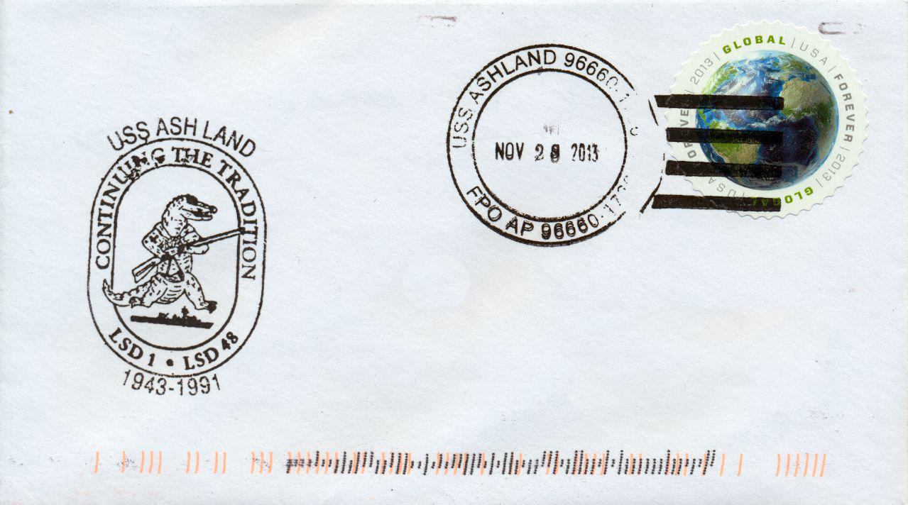 Beleg USS ASHLAND LSD-48<br /><br /><br /> von Karl Friedrich Weyland