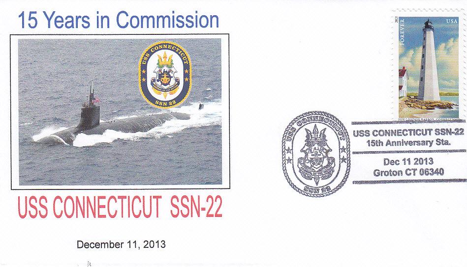 Beleg USS CONNECTICUT SSN-22 15 Jahre im Dienst, Groton