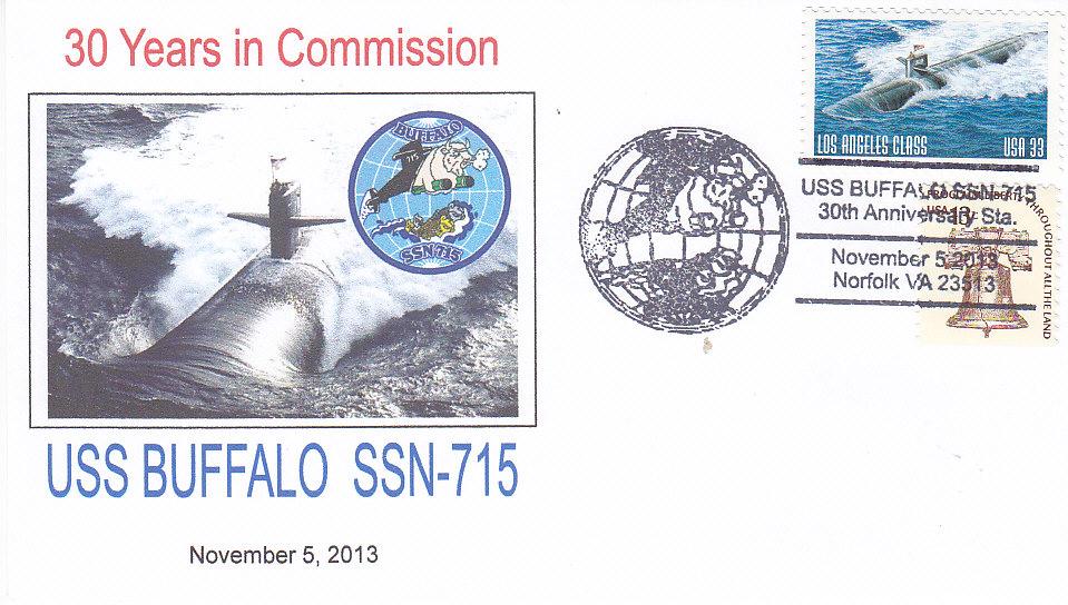 Beleg USS BUFFALO SSN-715 30 Jahre im Dienst