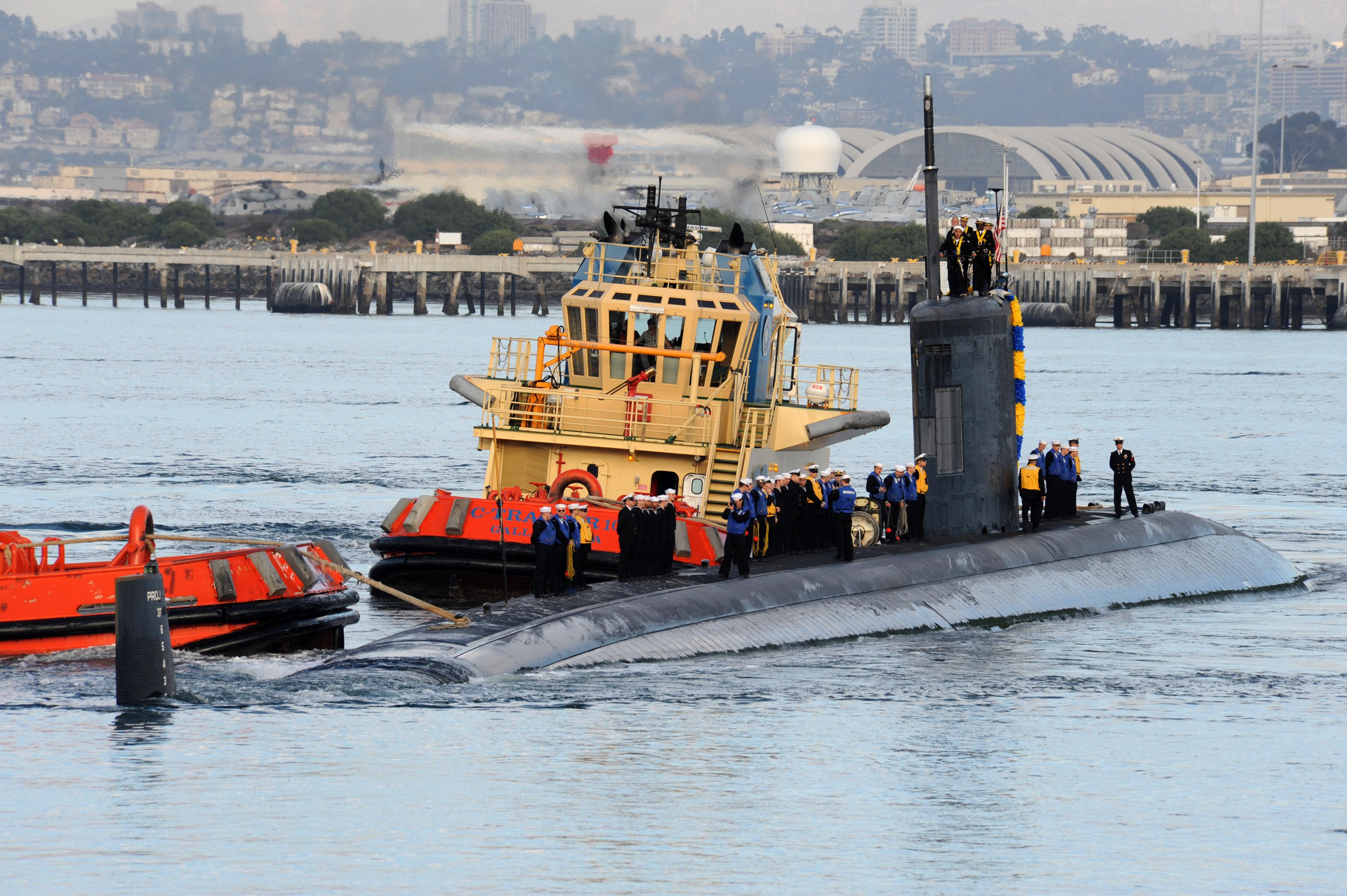 USS HAMPTON SSN-767 Einlaufen San Diego am 18.12.2013Bild: U.S. Navy