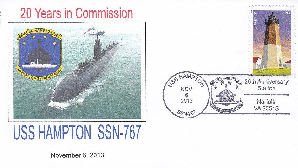 Beleg USS HAMPTON SSN-767 20 Jahre im Dienst
