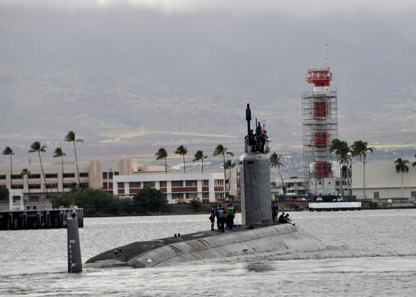 USS NORTH CAROLINA SSN-777 Auslaufen Pearl Harbor 19.12.2013Bild: U.S. Navy