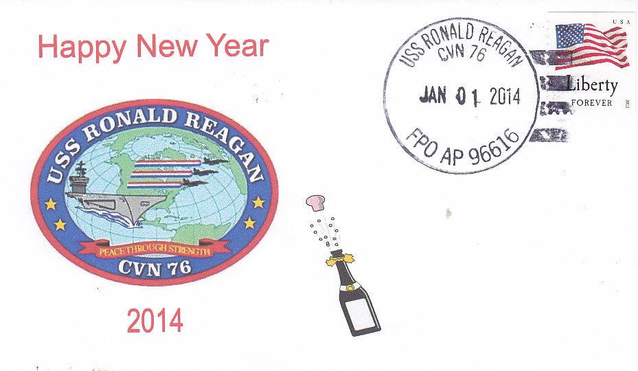 Beleg USS RONALD REAGAN CVN-76 Neujahr 2014