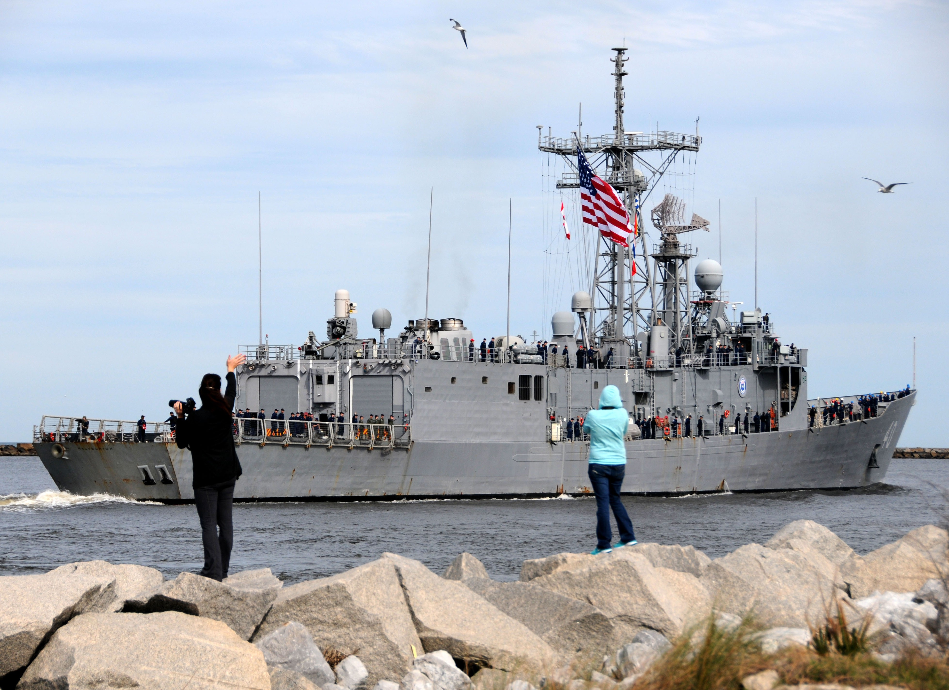 USS HALYBURTON FFG-40 Auslaufen Mayport am 15.01.2014 Bild: U.S. Navy
