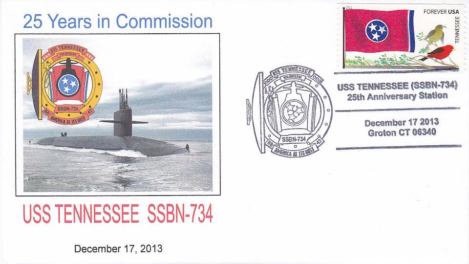 Beleg USS TENNESSEE SSBN-734 25 Jahre im Dienst