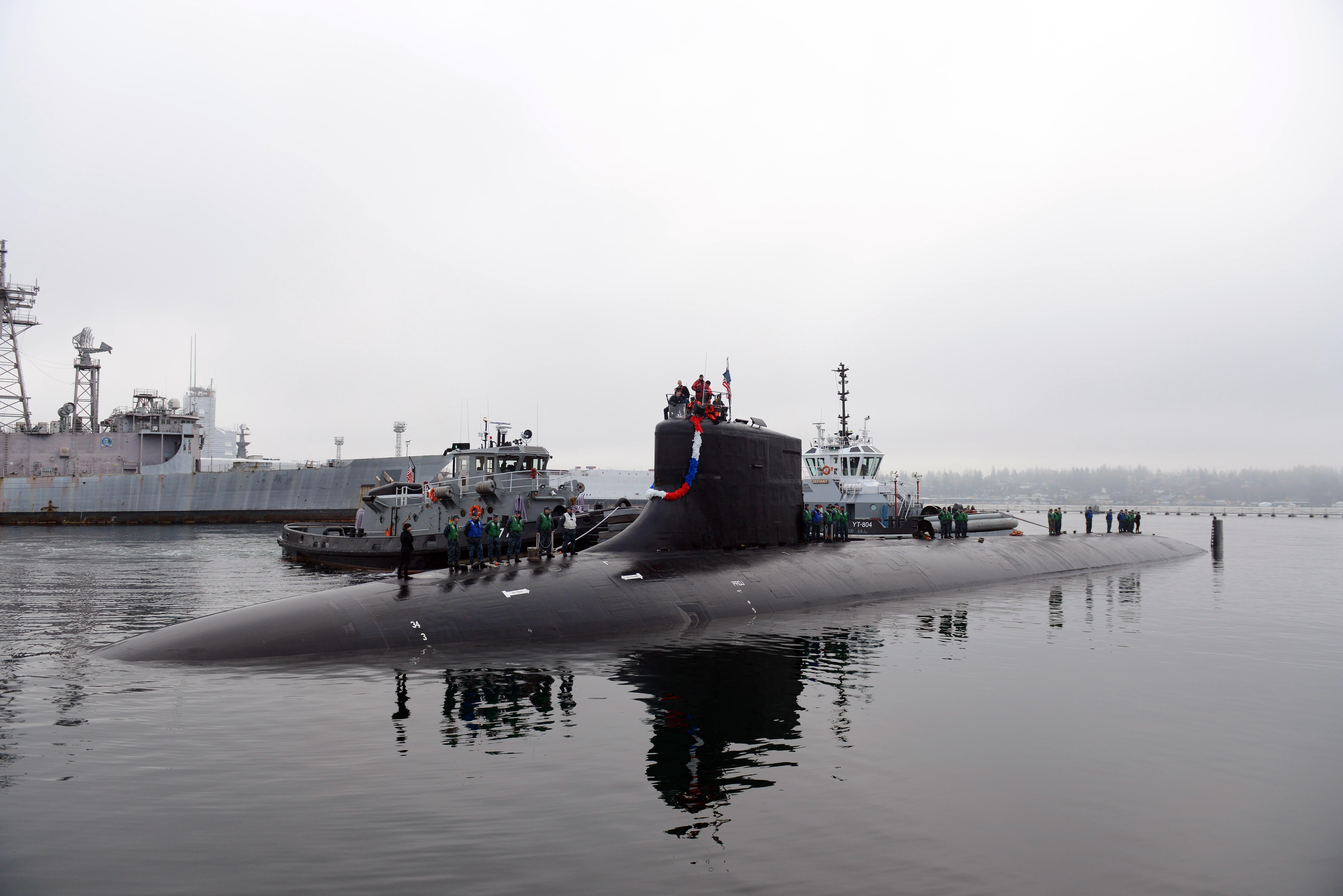 USS SEAWOLF SSN-21 Einlaufen Bremerton am 21.01.2014 Bild: U.S. Navy