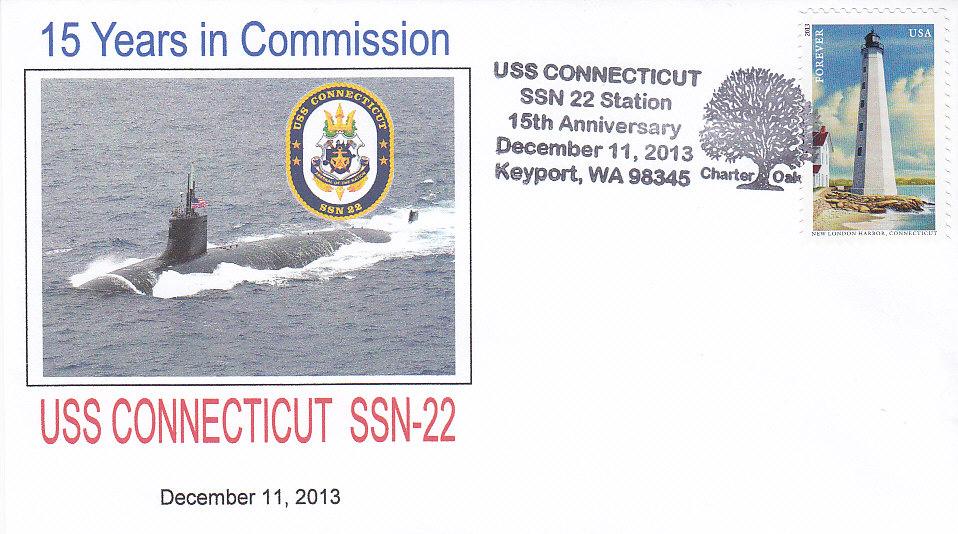 Beleg USS CONNECTICUT SSN-22 15 Jahre im Dienst aus Keyport, WA